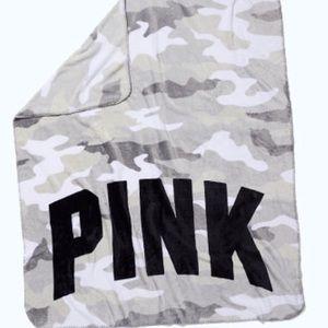 New Pink fleece Camo  blanket by Victory Secret